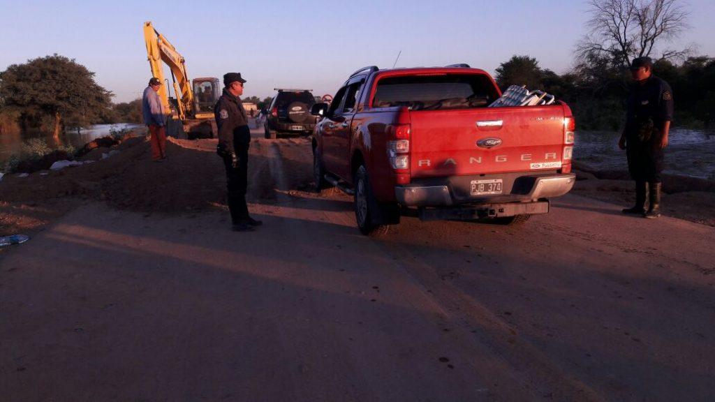Ruta provincial 54: repararon un sector afectado por la crecida del río Pilcomayo