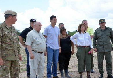 El gobernador Urtubey y la ministra Bullrich recorrieron la zona afectada y se reunieron con el Comité de Emergencia