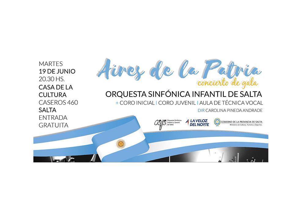 Aires de la Patria: gala musical con la Orquesta Sinfónica Infantil de Salta