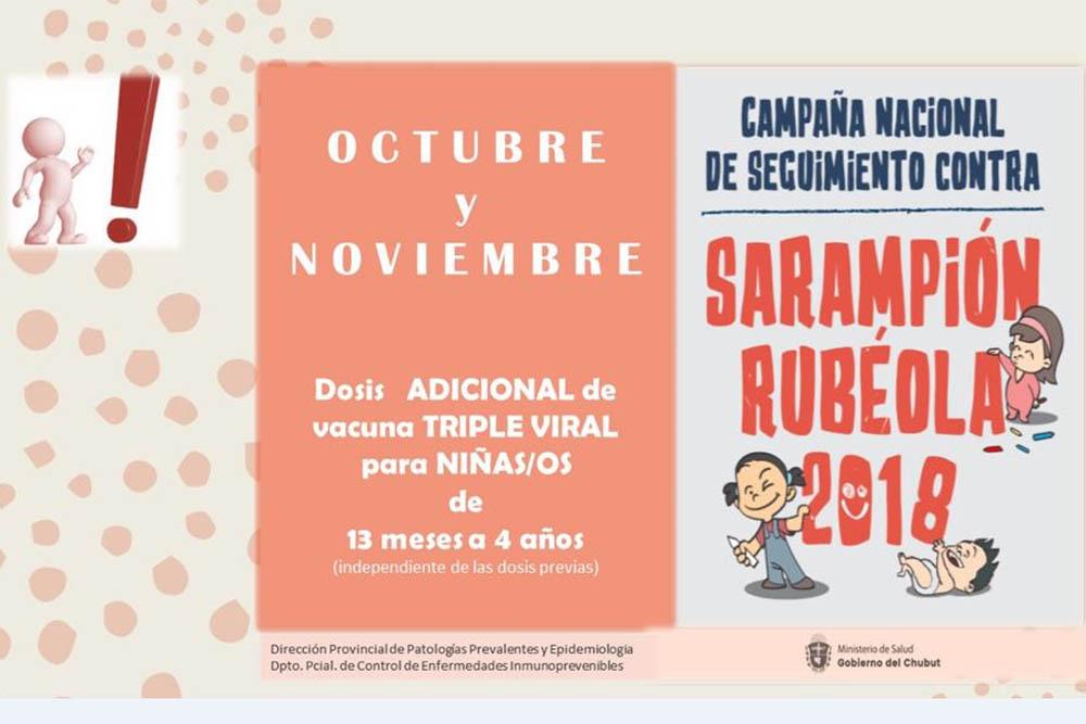 La próxima semana comenzará la campaña de refuerzo de vacunación contra sarampión y rubéola