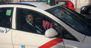 El taxi de «River» en el que viajó Angelici