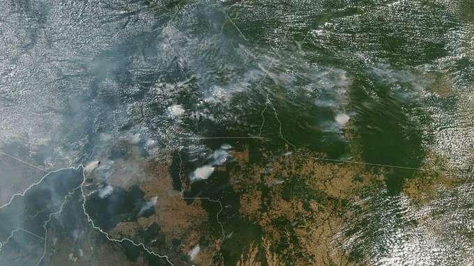 Incendios en la Amazona: la impactante imagen satelital que publicó la NASA