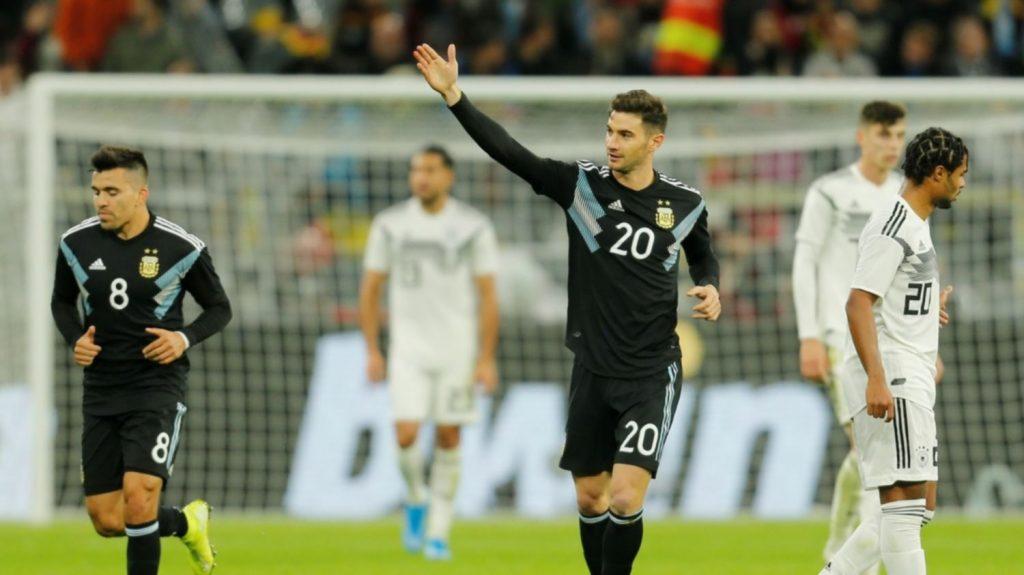 Argentina se recuperó y empató con Alemania 2-2