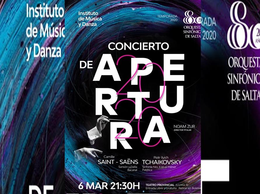 """La Sinfónica de Salta abre su Temporada 2020 con la """"Patética"""" de Tchaikovsky"""
